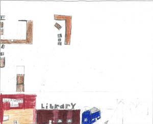 Architecture by Children Drawing Contest Winner, Northwest Region, K-3: Austin Elen, Lyon