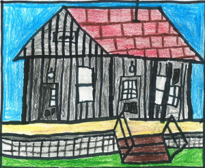 Architecture by Children Drawing Contest Winner, Southwest, K-3: Drew Lee, Shelby