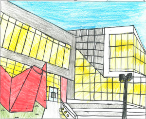 Architecture by Children Drawing Contest: Central Region, 4-6, Briella Osborn, St. Francis School