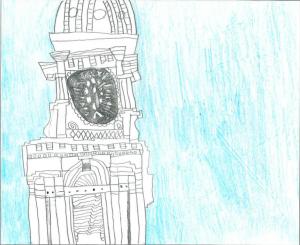 Architecture by Children Drawing Contest Winner, Northwest Region, K-3: Hayden Lowenberg, Dubuque