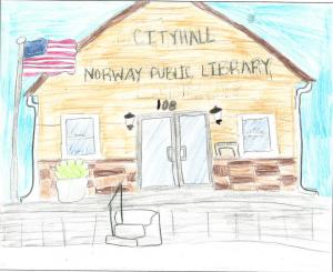 Architecture by Children Drawing Contest Winner, Southeast Region, 4-6: Kaitlyn Ballard, Iowa